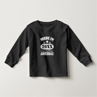 Fait dedans ajoutez votre anniversaire tee-shirt