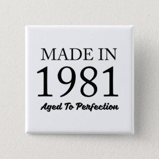 Fait en 1981 macaron carré 5 cm