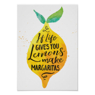 Faites à des margaritas l'affiche pour aquarelle