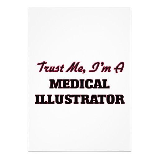 Faites confiance que je je suis un illustrateur carton d'invitation