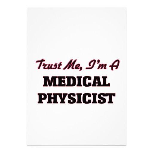 Faites confiance que je je suis un physicien invitations personnalisables