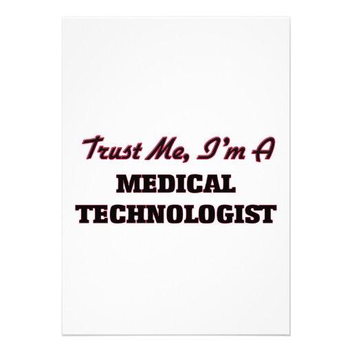 Faites confiance que je je suis un technologue faire-part personnalisé