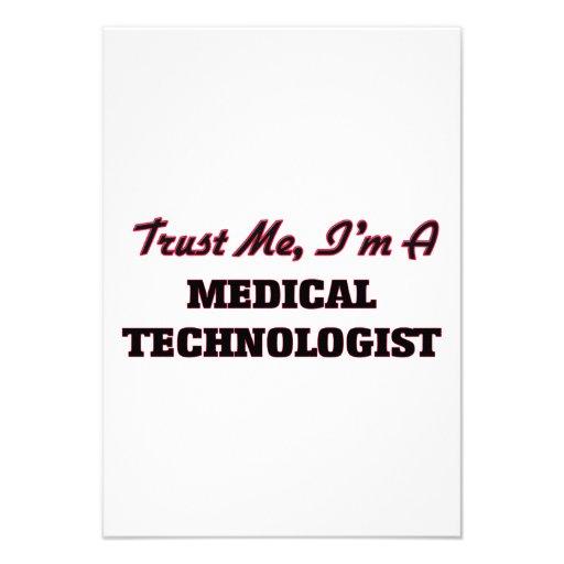 Faites confiance que je je suis un technologue cartons d'invitation personnalisés
