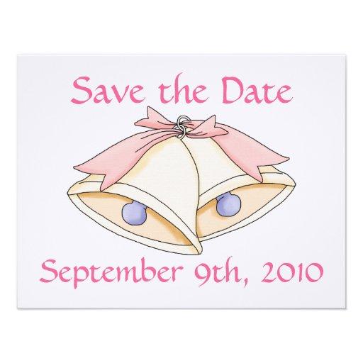 Faites gagner la date avec des cloches de mariage faire-part personnalisés