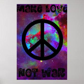 Faites la guerre I d'amour pas Poster