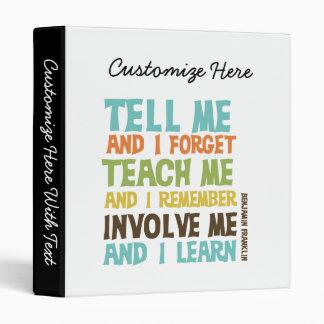 Faites- participermoi citation inspirée classeurs