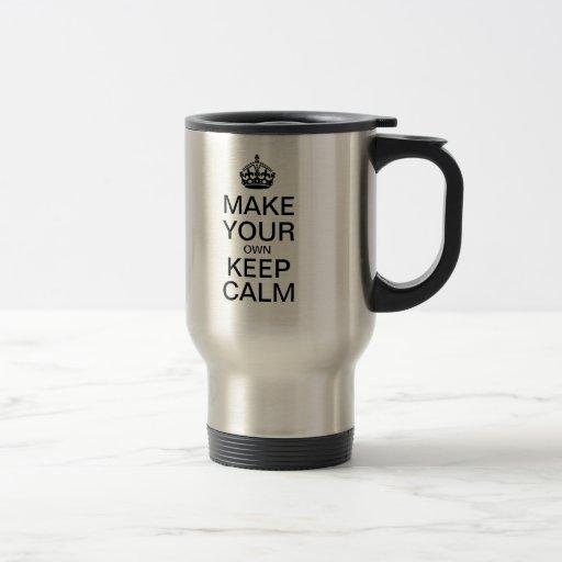 Faites vos propres garder la tasse calme de voyage