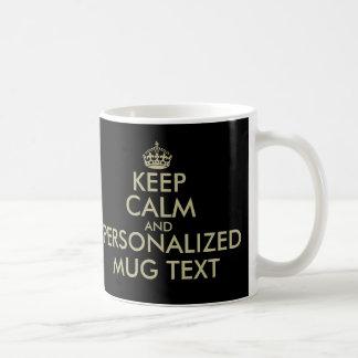 Faites vos propres garder l'or calme de faux de la mug blanc