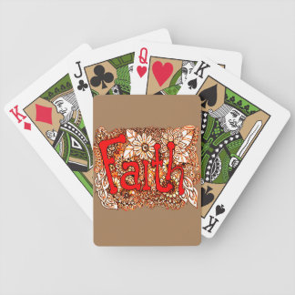 Faith 1 bicycle playing cards