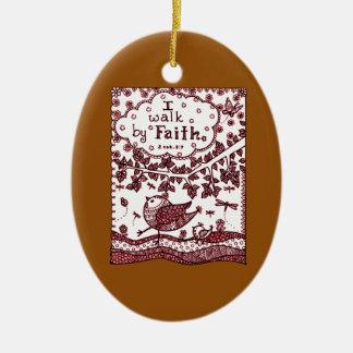 Faith 2 ceramic ornament