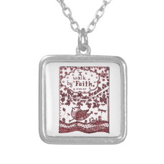 Faith 2 silver plated necklace