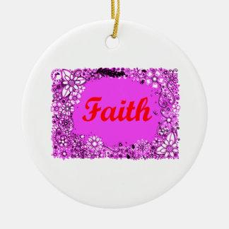 Faith 3 ceramic ornament