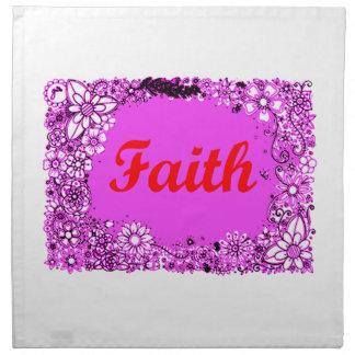 Faith 3 napkin