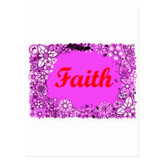 Faith 3 postcard