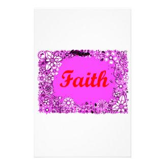 Faith 3 stationery