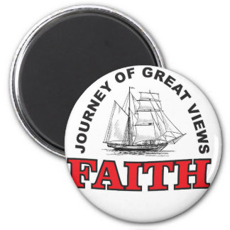 faith a journey with great views 2 inch round magnet