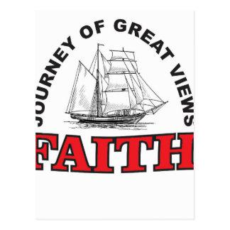 faith a journey with great views postcard