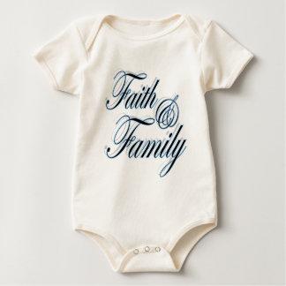 Faith and Family cute Christian baby shower gift Creeper
