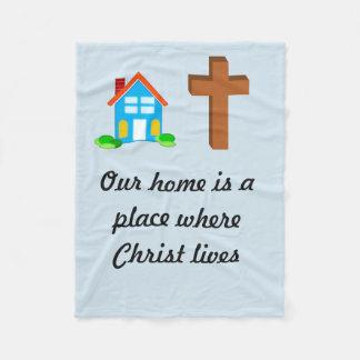 Faith and Home blanket