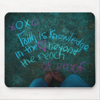 faith and knowledge mouse pad