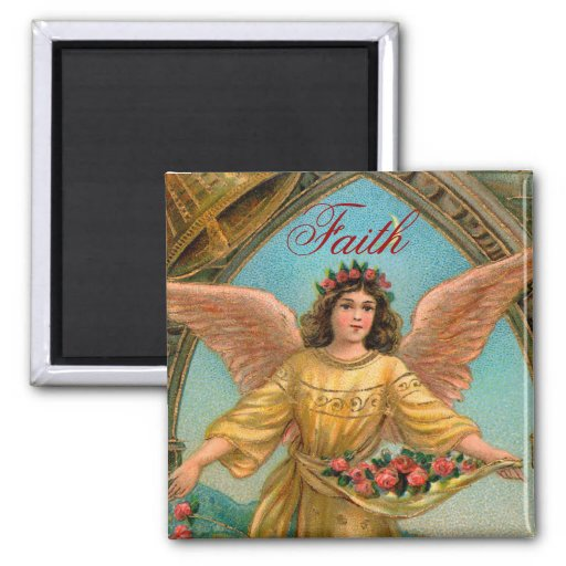 Faith Angel Magnet - 2 of a set of 4