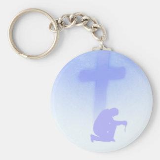 Faith Basic Round Button Keychain