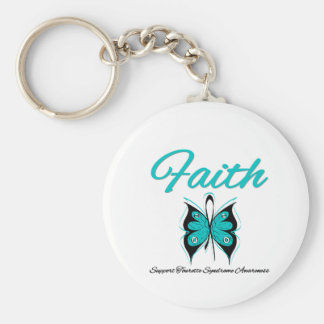 Faith Butterfly Tourette Syndrome Keychains