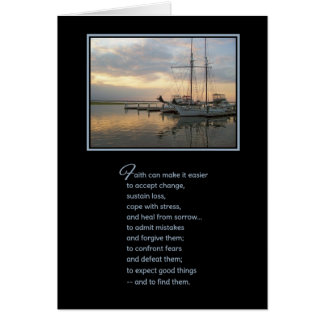 Faith can make it easier... greeting card