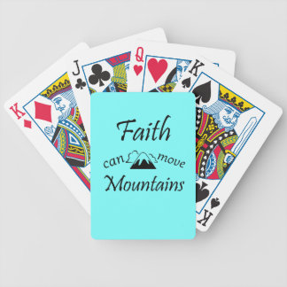 Faith Can Move Mountains Bicycle Playing Cards