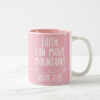 Faith Can Move Mountains Christian Bible Verse Mug