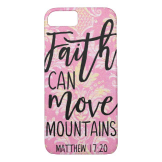 Faith Can Move Mountains Christian Quotes Belief Case-Mate iPhone Case