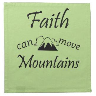 Faith Can Move Mountains Napkin