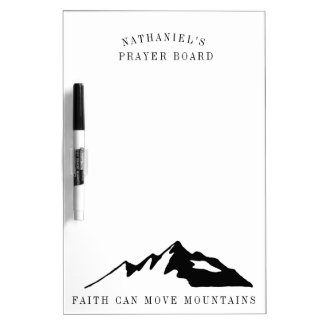 Faith Can Move Mountains Personalized Prayer Board