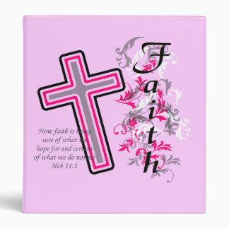 Faith Christian with Cross Vinyl Binder