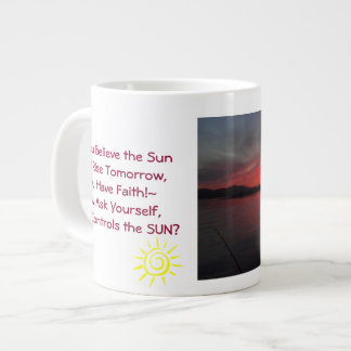 Faith Cup Jumbo Mug 20 Oz Large Ceramic Coffee Mug