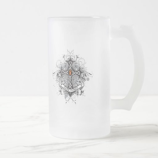 Faith Family Prayer Cross - Leukaemia 16 Oz Frosted Glass Beer Mug