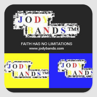 FAITH HAS NO LIMITATIONS- Black& Yellow Sickers Square Sticker