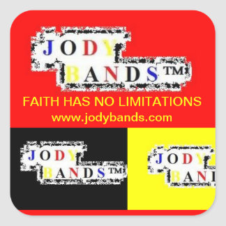 Faith Has No Limitations-  Red & Yellow Sticker