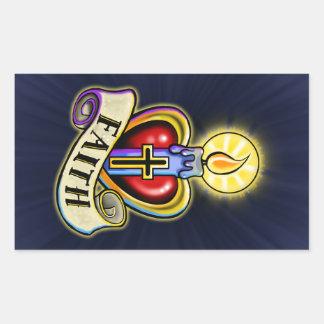 Faith Heart Candle Design Sticker