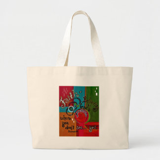 Faith Hebrews 11 Large Tote Bag