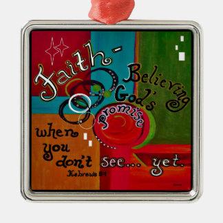 Faith Hebrews 11 Metal Ornament