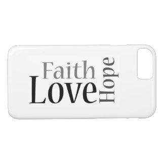 Faith, Hope and Love: 1 Corinthians 13:13 iPhone 8/7 Case