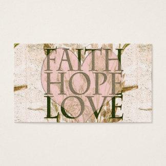 Faith, Hope and Love Business Card