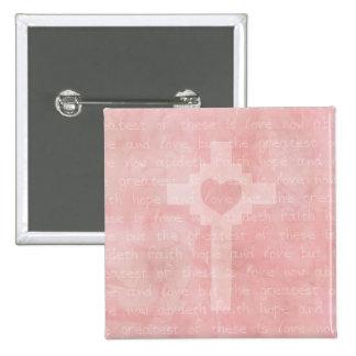 Faith Hope and Love Christian Pins