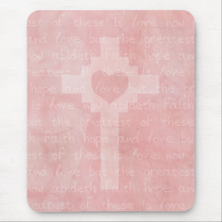Faith Hope and Love Christian Mouse Pad
