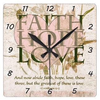 Faith, Hope and Love Clock