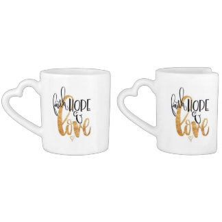Faith,Hope And Love Couples Mug Set