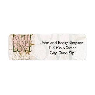 Faith, Hope and Love Return Address Label