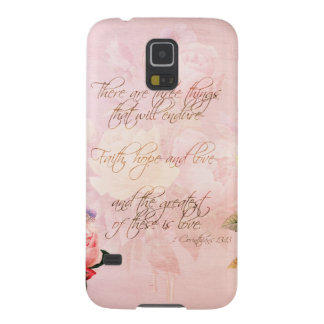 Faith Hope and Love Roses Galaxy S5 Cover