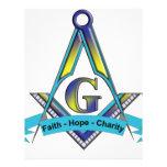 Faith, Hope, Charity Letterhead Template